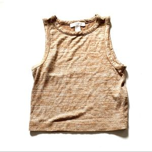 Forever 21 crop tan tank small